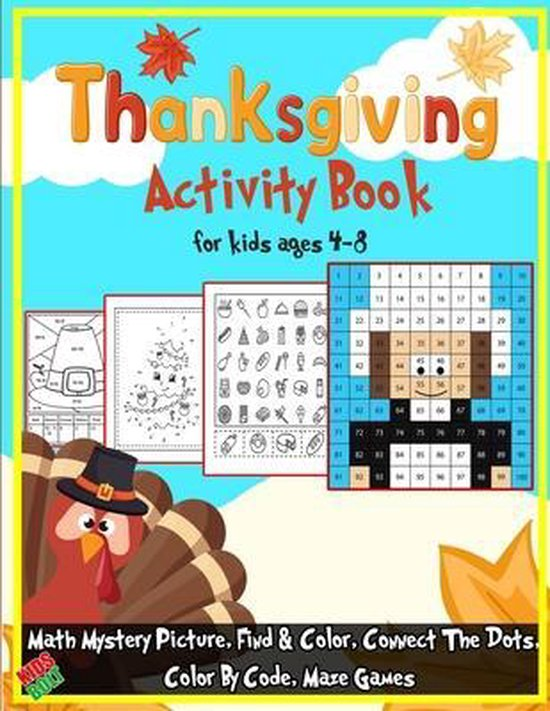 Thanksgiving Activity Book for kids age 4-8