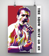 Poster Pop Art Freddie Mercury - Queen - 50x70cm