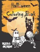 Halloween Coloring Book-tricks or treat