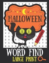 Halloween Word Find Large Print