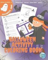 Halloween Activity Coloring Book