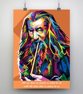 Poster Pop Art Gandalf - The Lord of the Rings - 50x70cm