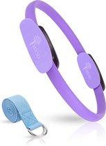 MIYYO Pilates ring Paars | Inclusief gratis yoga riem (blauw) t.w.v. 9,95 | Yoga ring | 38cm