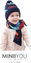 Set muts sjaal kind dreumes peuter (1&2 jaar) - dinosaurus set jongens
