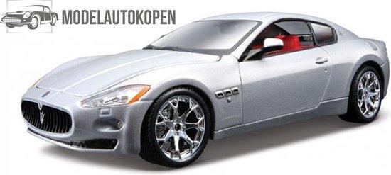 Maserati GranTurismo 2008 (Zilver) 1/32 Bburago - Modelauto - Schaalmodel - Model auto - Miniatuurautos - Miniatuur auto