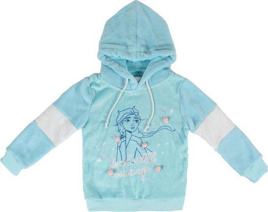 Frozen prinses Anna en Elsa Sweater trui blauw www