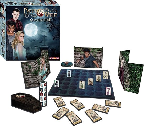 Thumbnail van een extra afbeelding van het spel Studio 100 Nachtwacht Spel - Het Griezelkerkhof