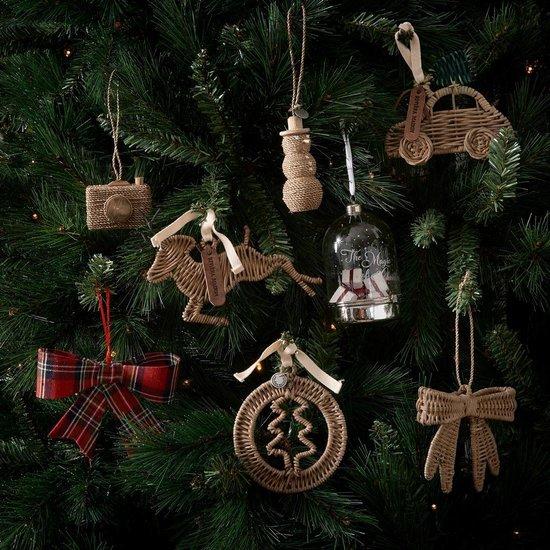 Rustic Rattan Deer Ornament