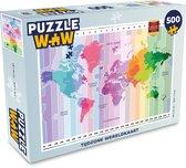 Puzzel 500 stukjes Tijdzone wereldkaart - Tijdzone wereldkaart  - PuzzleWow heeft +100000 puzzels