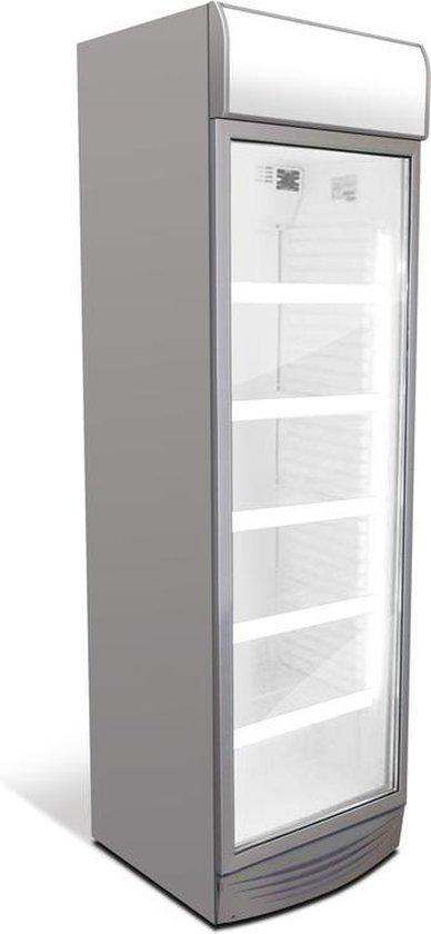 Koelkast: Frigoglass CMV-375 Display Koelkast - Grijs/Grijs/Wit, van het merk Frigoglass