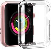 Apple Watch SE 40 mm Screenprotector + Hoesje - iWatch SE 40mm Siliconen TPU Case Transparant - Volledige 360 Graden Bescherming