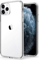iPhone 11 Pro Max Hoesje Transparant  - Apple iPhone 11 Pro Max Siliconen Case Back Cover - Clear