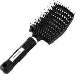 Dermarolling Big Detangle Brush Zwart | Antiklit haarborstel by Dermarolling