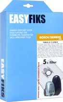 Easyfiks - Stofzuigerzakken - Geschikt voor Bosch/Siemens SynchroPower, gl 30, Zoo'o, Logo, Ergomaxx'x, Free'e, MoveOn, Ingenius, Activa, Super XS Dino E, g all - 5 stuks