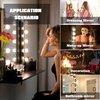 Hollywood Lampen - Make Up Spiegel - LED lamp - Visagie - Hollywood Spiegel - Sfeerverlichting - 10 Beauty LED Lampen - 5 Meter - USB - Dimmer - RGB kleurrijk & Wit Licht