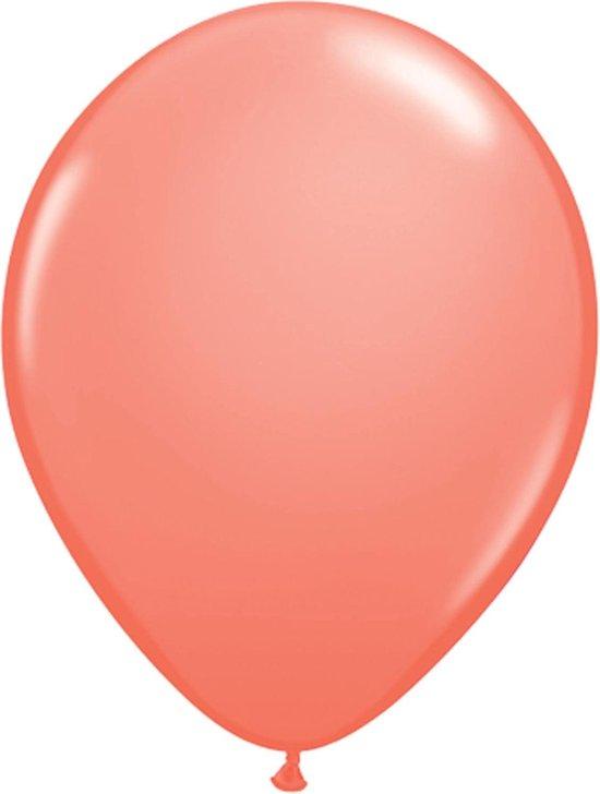 Ballonnen Koraal 28cm 100 stuks | Qualatex