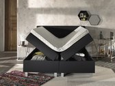 Complete Opbergboxspring 180x200 cm - Pocketvering matrassen - Dreamhouse Ilse -  Tweepersoons bed met opbergruimte