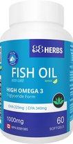 88Herbs ★ Visolie ★ 60 capsules ★ superieure visolie met Omega 3,  EPA en DHA ★ Supplement