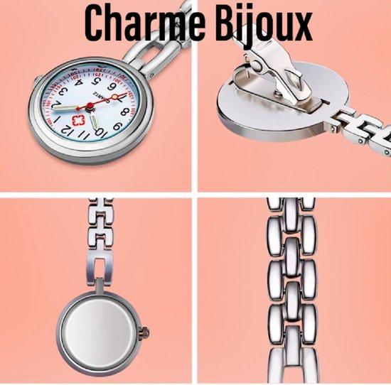Verpleger horloge- Telefoniste- Groen- Charme Bijoux®