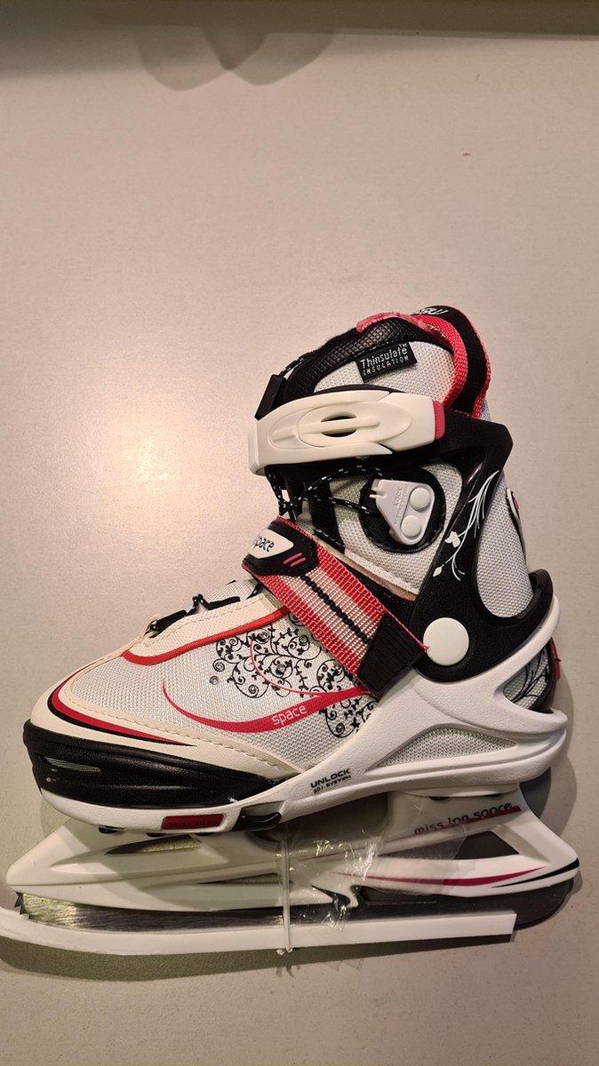 V3tec ijshockeyschaats meisjes wit/roze/zwart maat 29-32