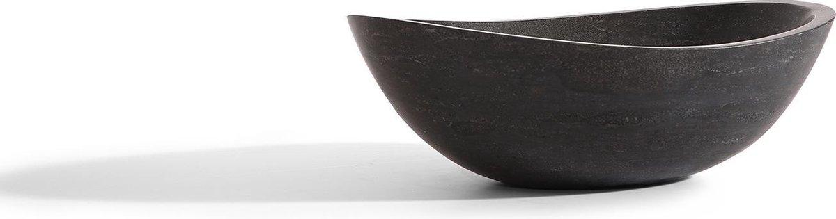 Mawialux opzet waskom | Natuursteen | 45x36 cm | Zwart | ML-L504-Z