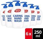 Lifebuoy Caring Handzeep Hygiëne & Care Antibacterieel Zeeppompje - 6 x 250 ML Voordeelverpakking