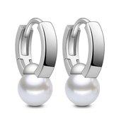 Oorbellen dames | Zilveren oorbellen | Oorhangers met parel | Oorbellen meisje | Parel oorbellen