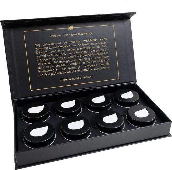 tastea Tasting Box - Giftbox - voor de hele dag, om cadeau te geven - giftboxen, x-mas assortiment - zonder cafeïne - 8 verschillende tastea blends