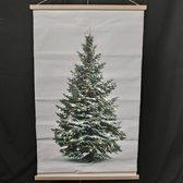 Kerstboom op canvas doek inclusief verlichting L 75X120 CM