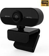 Webcam full HD (1080p) - Met ingebouwde microfoon - Webcam voor PC - USB - Eenvoudige installatie - Autofocus - Webcamera - Op computer - Vergaderen - Werk & Thuis - School - Windows & Mac