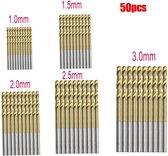 Borenset 50 Delig - Titanium Coated Boren - Handig Voor Doe-Het-Zelf - Handig Voor Klussen