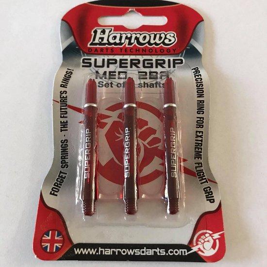 Afbeelding van het spel Harrows Supergrip Shafts Rood Medium 3 stuks