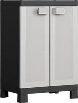 HART opbergkast 'low cabinet' 65x45x97 cm - Kunststof Magazijnkast - Opslagkast -  Tuinkast - Campingkast