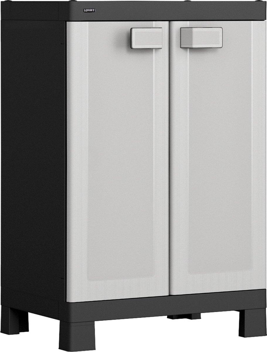 HART opbergkast 'low cabinet' 65x45x97 cm - Kunststof Magazijnkast - Opslagkast -  Tuinkast - Campin