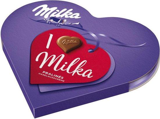 Milka I Love Milka Doos 165 gram Hart Chocolade Cadeau