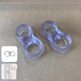SumioProducts Deurklink Buffers - Stootdoppen - Muurbeschermers - Flexibele Deurstoppers - 2 stuks Transparant
