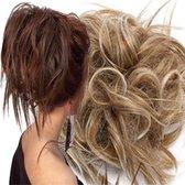 Haar Wrap Extension half lang Zand Bruin mix Blond Naturel Blond   Inclusief Luxe Bewaarzakje.