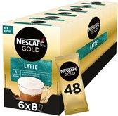 Nescafé Gold Latte Macchiato oploskoffie - 6 doosjes à 8 zakjes