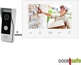 Bedrade deurbel met camera, wit, 2 draads, gratis opslag beelden op SD-kaart, 7 inch scherm - Doorsafe 7210