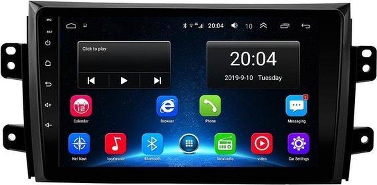 Navigatie radio Suzuki SX4 2006-2013, Android, Apple Carplay, 9 inch scherm, GPS, Wifi, Mirror link, Bluetooth