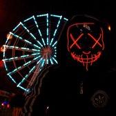 Halloween masker - Rood - DJ Masker - Feest - Verlichting - Met LED - verstelbare hoofdband - Purge - Carnaval