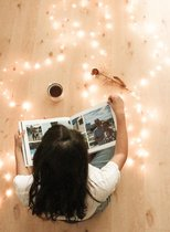 Fairy Lights - Lampjes Slinger LED lichtjes -  5M met 100 LED lichtjes in Warm Wit   Inclusief 3x AA Batterijen   Indoor Led Warm White  Cadeau tip   Romantisch Licht   Decoratie   Bruiloft   Party lights