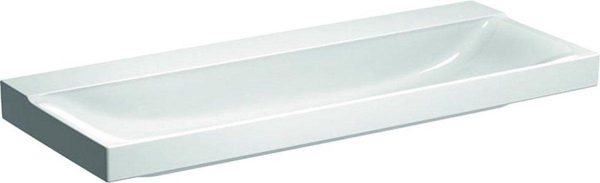 Geberit Xeno2 wastafel zonder kraangat zonder overloop 120x48x14cm wit 500552011