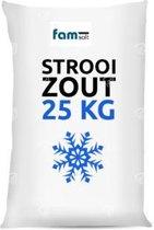 Strooizout/dooizout - 25KG Wit zak -Famsalt -De Icing strooizout om opritten en paden ijs- en sneeuwvrij te houden.