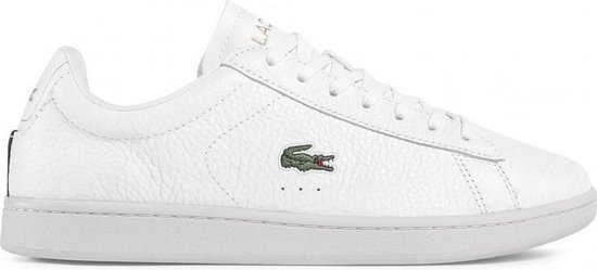 Lacoste Carnaby Evo 0120 2 SMA Heren Sneakers - White/Black - Maat 43