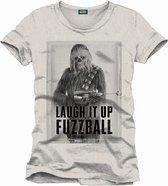 STAR WARS - T-Shirt Chewie Laught It Up - Melange (L)