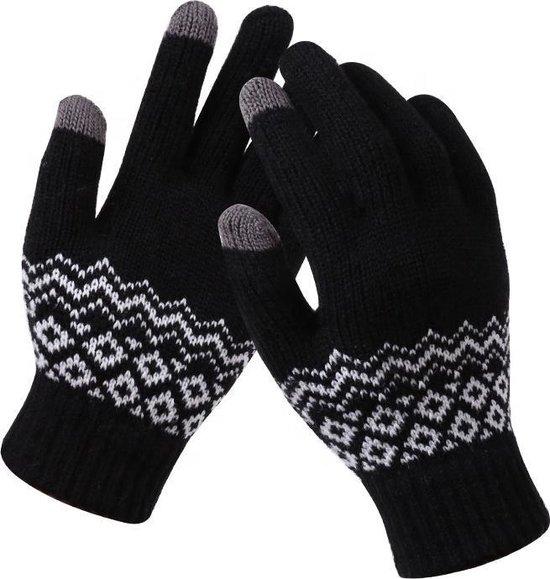 R2B Touchscreen handschoenen winter - Zwart - Universeel - Handschoenen dames / heren winter
