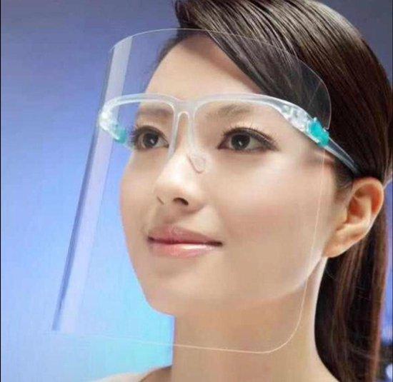 Gelaatscherm Spatscherm - Hygiene masker - Brildragers - Niet-medisch - 1 stuks