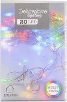 Kerstlampjes - 20 LEDs gekleurd op batterijen