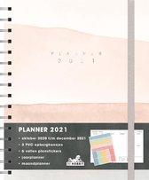 Hobbit Jaaragenda - Planner - A5 - Spiraal - roze - 2021